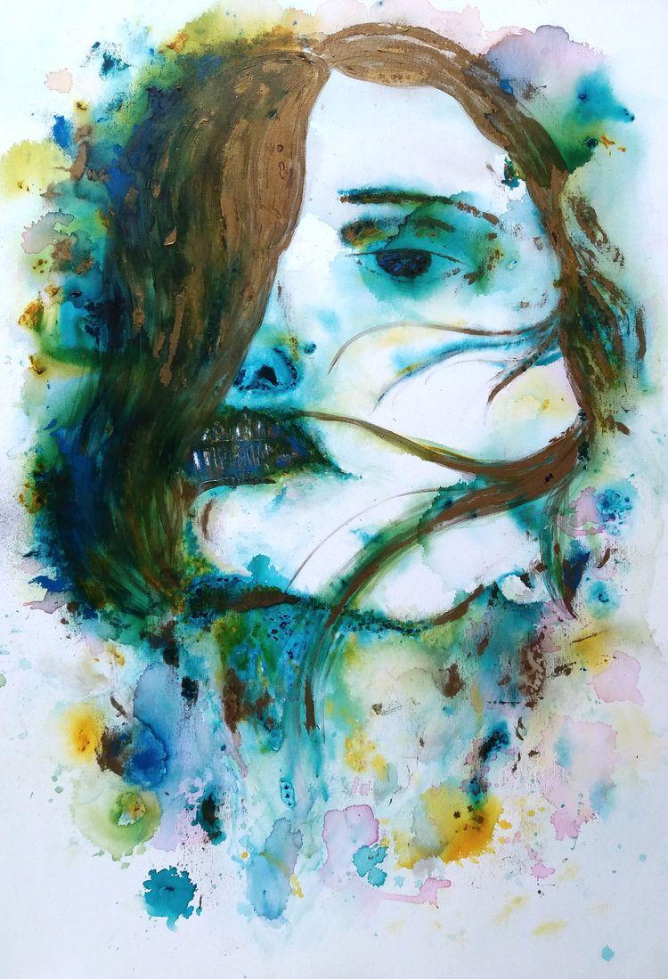 FLUID BEAUTY Acrylic canvas 80  - tmarcoantonio | ello