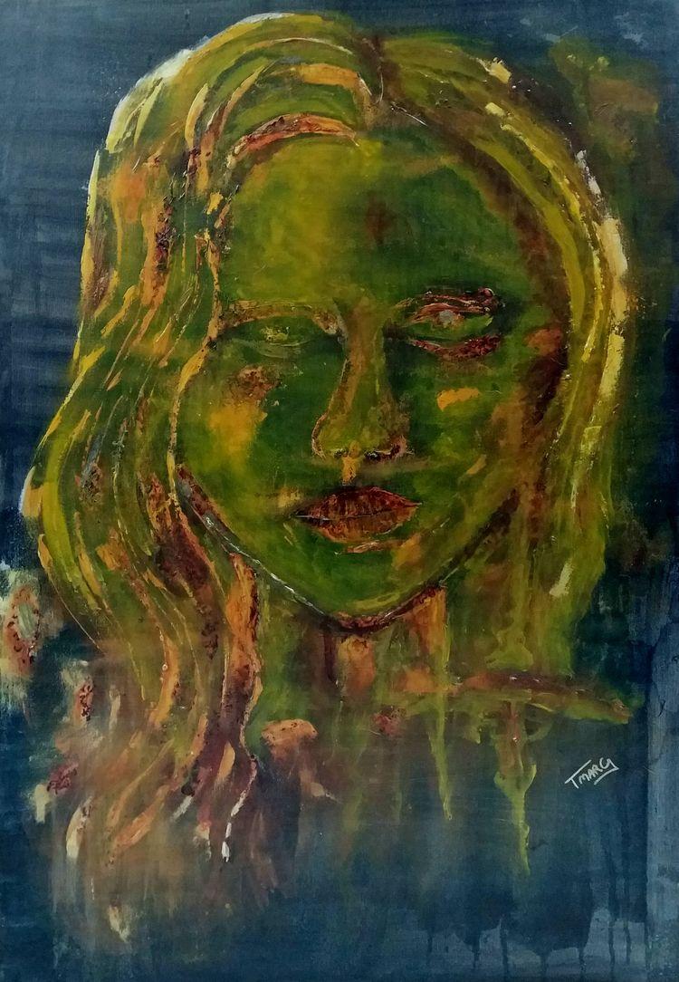 RUSTY BEAUTY Acrylic canvas 80  - tmarcoantonio | ello