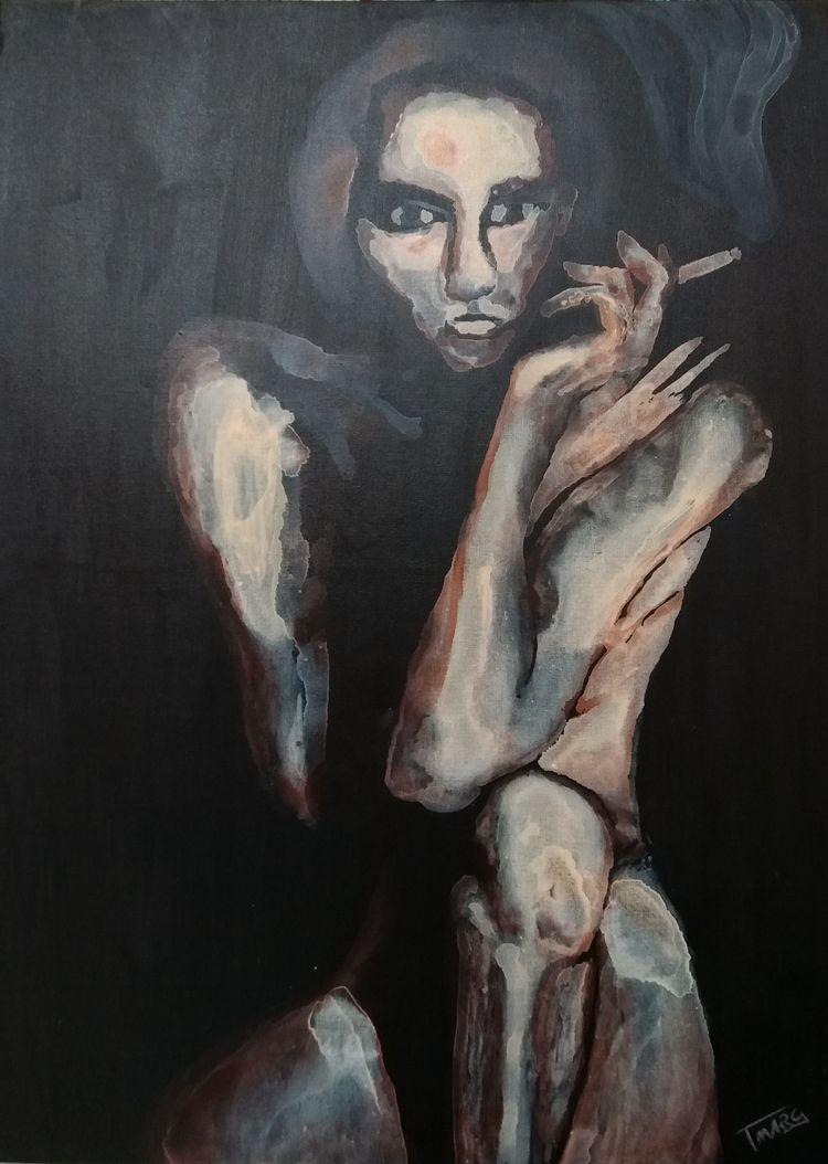 WOMAN SHADOW Acrylic canvas 70  - tmarcoantonio | ello