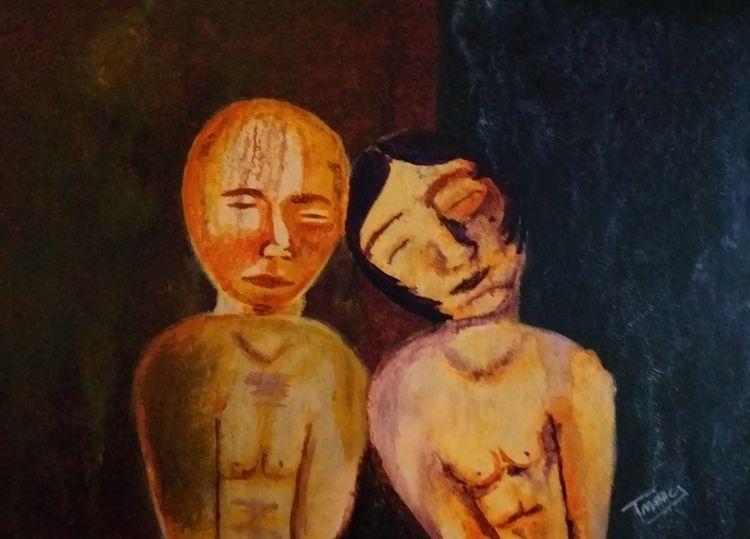 RUSTY LOVE Acrylic canvas 60 cm - tmarcoantonio | ello