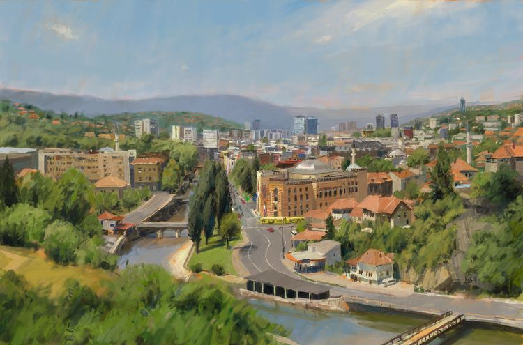Sarajevo Photo study - art, digitalpainting - mujkicharis | ello