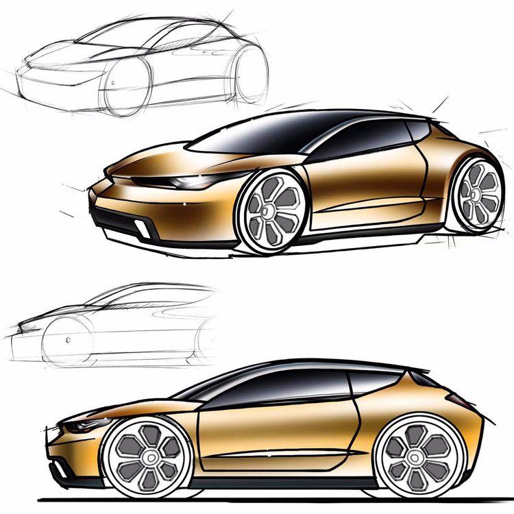 Original car sketch chicken-scr - jamesowendesign | ello