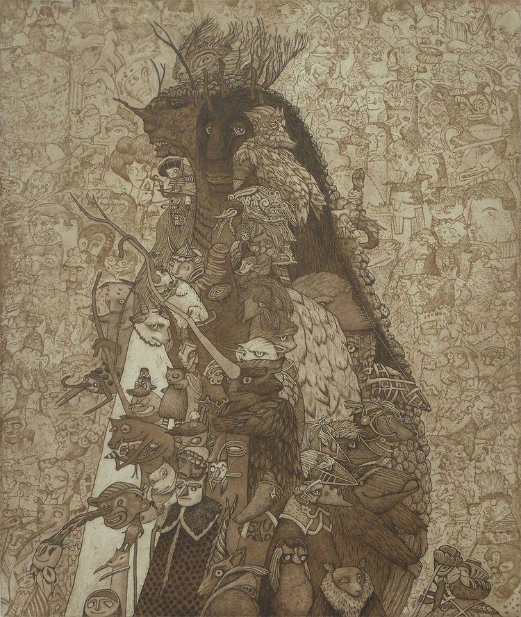 'Roots Rust' Pamela Tait, etchi - wowxwow | ello