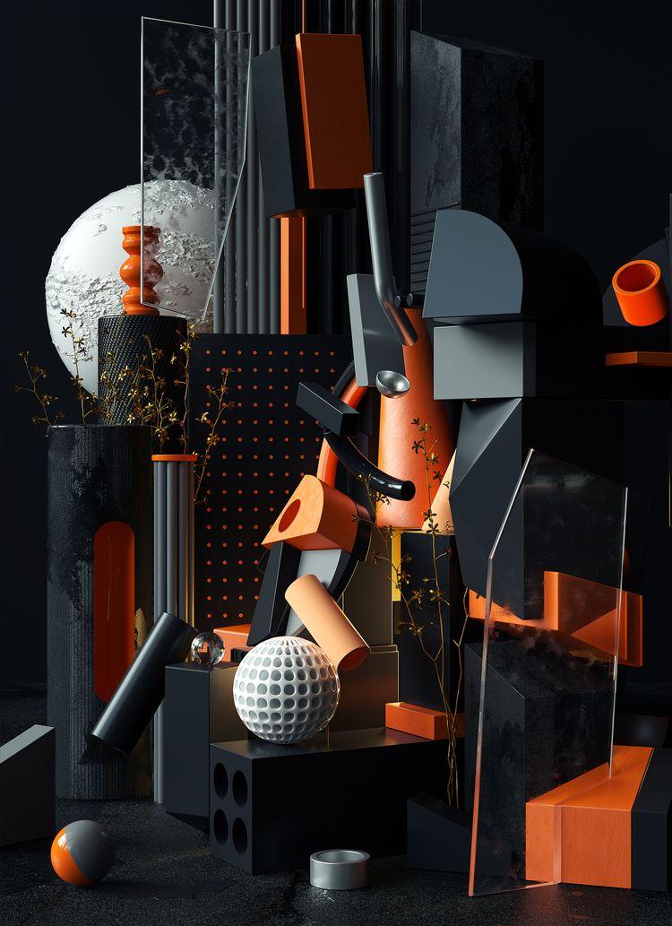 Cubist Composition - omaraqildesign   ello