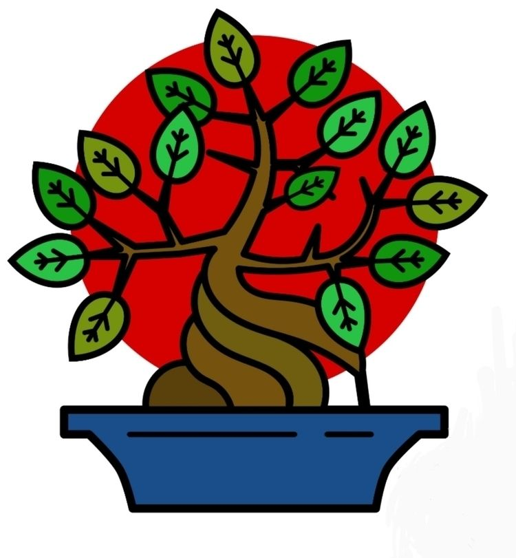 bonsai, tree, vector, design - ladybaigstudio | ello