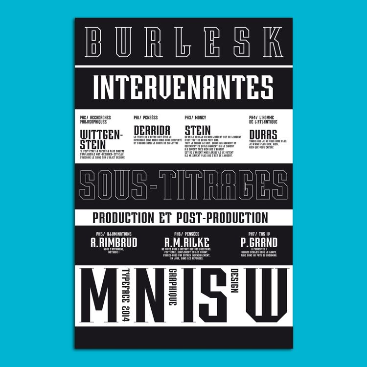 Burlesk typeface / catalogue - visual - my_name_is_wendy | ello
