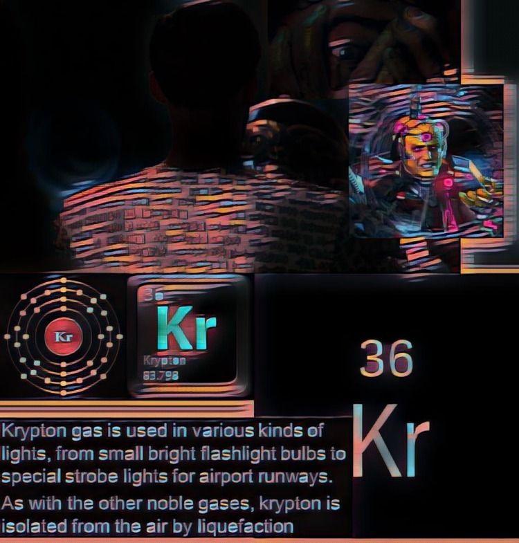 Krypton (Greek: κρυπτός, hidden - willmoller | ello