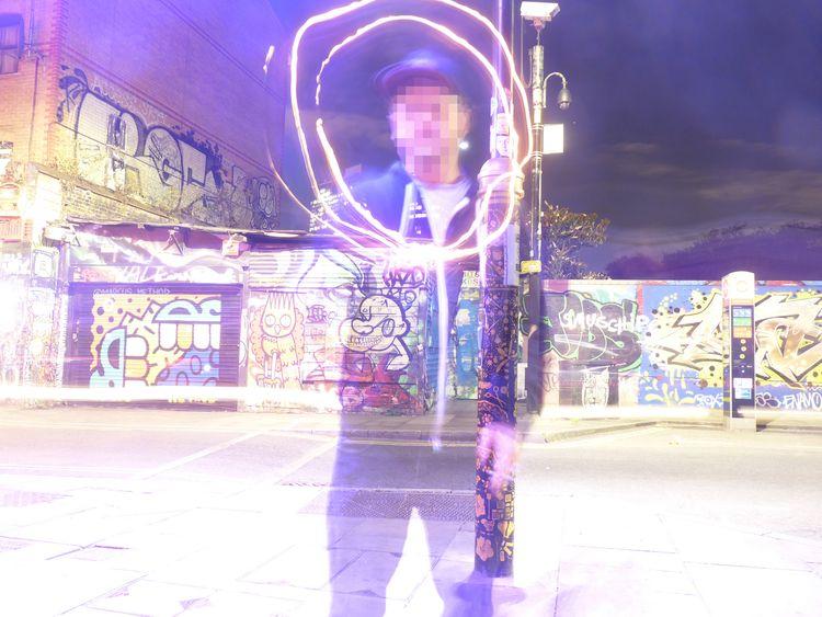 Time exposure portrait London b - voxxromana | ello