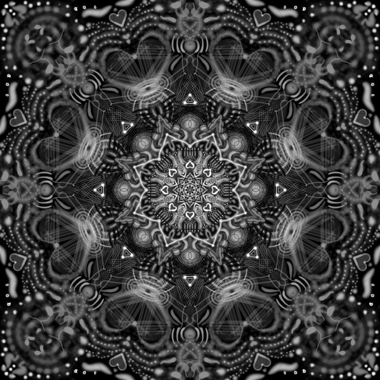 BlackheartZen - art, digital, digitalart - violetluna   ello