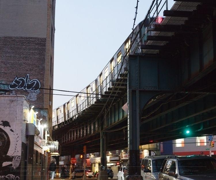 train passes overhead Bronx. tr - wlotus | ello