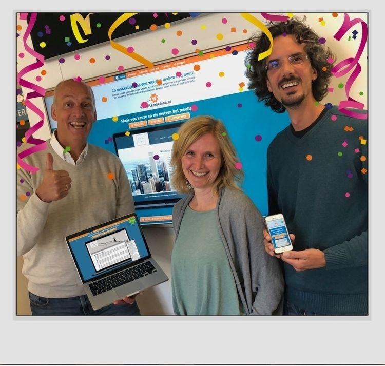 Hoera, onze Websitemachine.nl d - ontwerpfabriek | ello