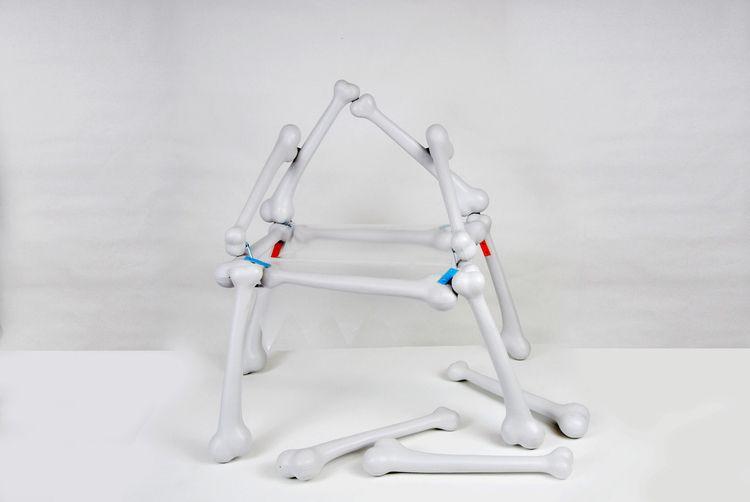 art, sculpture, chair, bones - estrid | ello