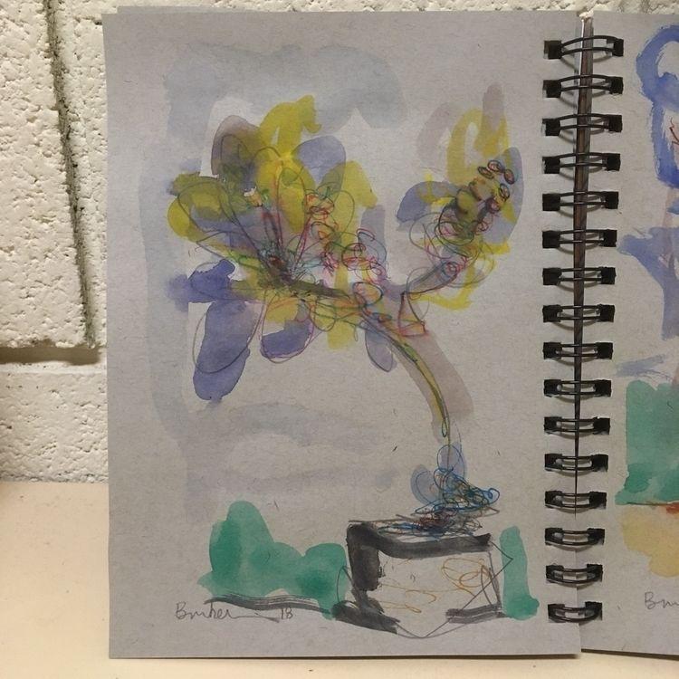 Flowers. •• 8 1/2 6 inches, wat - brunkenart | ello