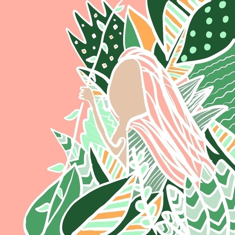 Jungle Gal  - jungle, leaves, forest - efstathia_ | ello