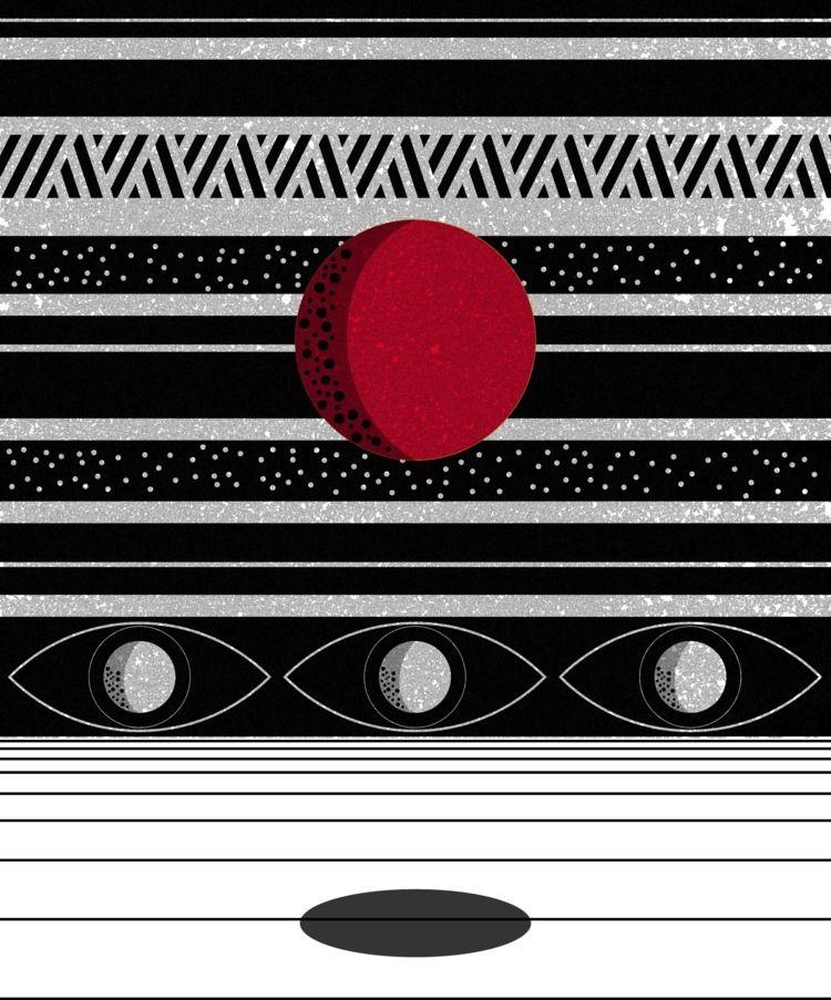 Spectral Sun - illustration, night - stephenpappas | ello
