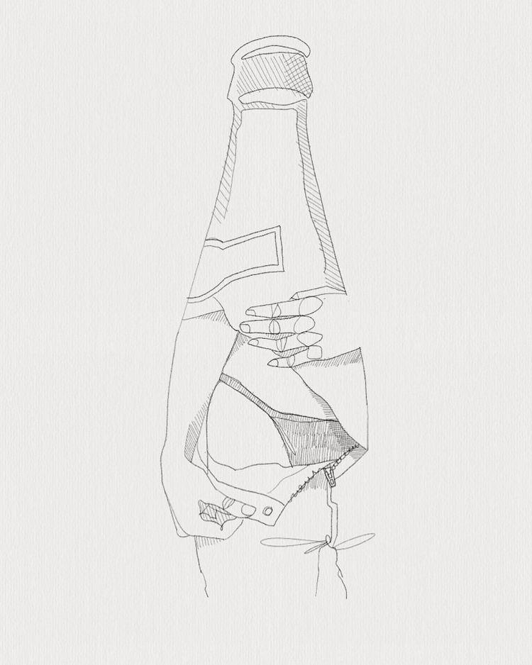 Wet dreams  - beer, girl, jeans - heiniistgegenalles | ello