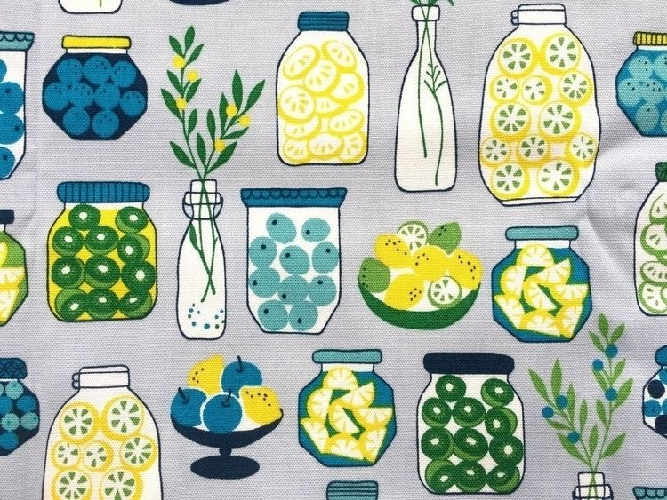 Kitchen Theme Fabric fromjapanw - futoshijapanese   ello