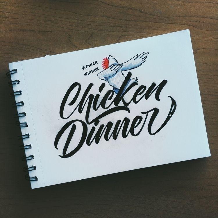 Winning - inktober2018, lettering - chuckchai   ello