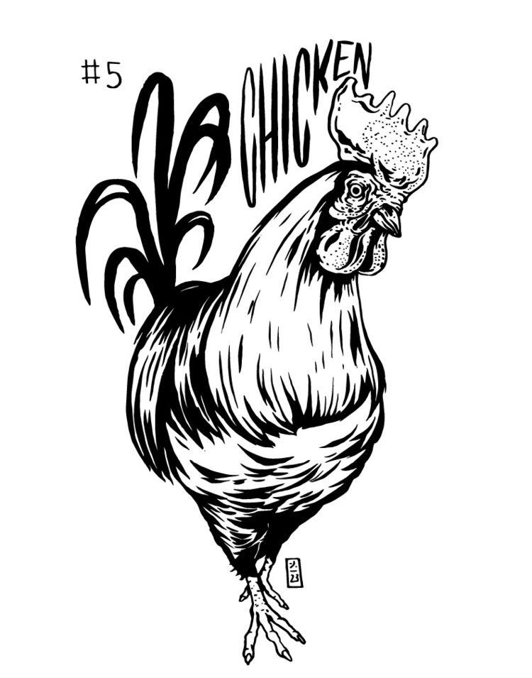 Chicken - Inktoberday5, inktober2018 - thomcat23   ello
