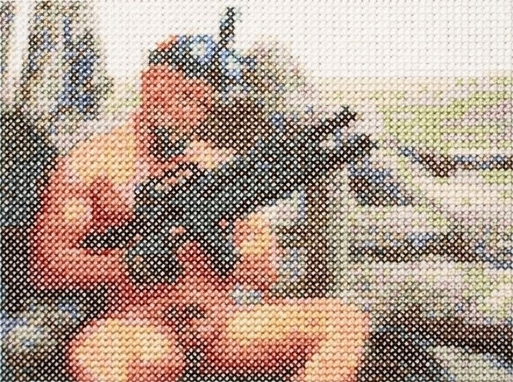 commando, cross stitch, 5 6 5/8 - aubrey   ello