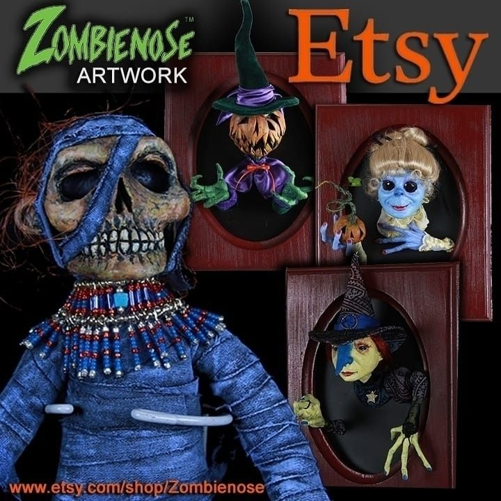 Etsy shop OPEN! visit - zombienose - zombienose | ello