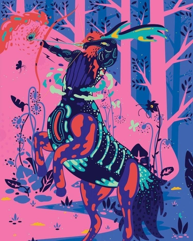 illustration, centaur - galekto | ello