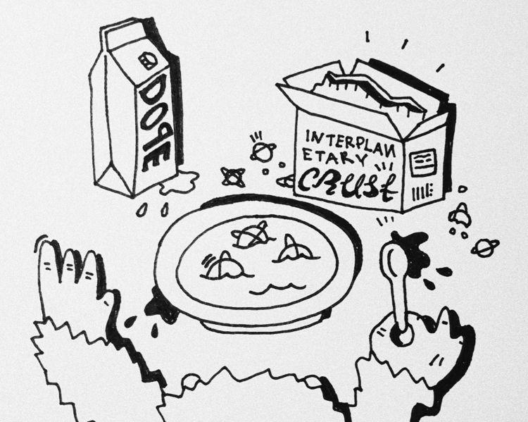 intergalactic krust - doodles - piotrkabat   ello