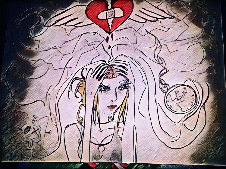 Title: heart - MyheadisFullofFuck, - alicelefae | ello