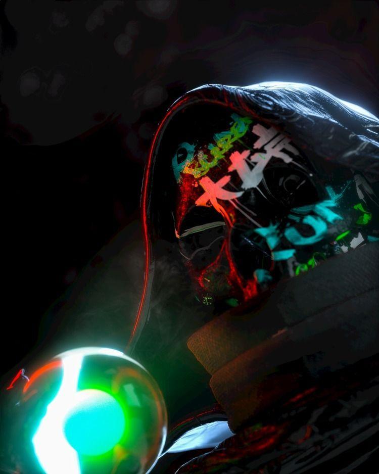 Semi Lich - texture, cyberpunk, neon - skeeva | ello