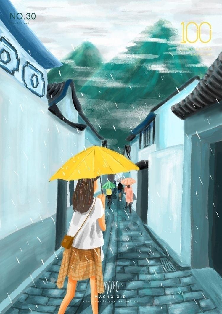 Xizhou Town raining - machoxie | ello