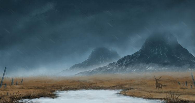 Wetlands - illustration, digitalpainting - bryanmahy | ello