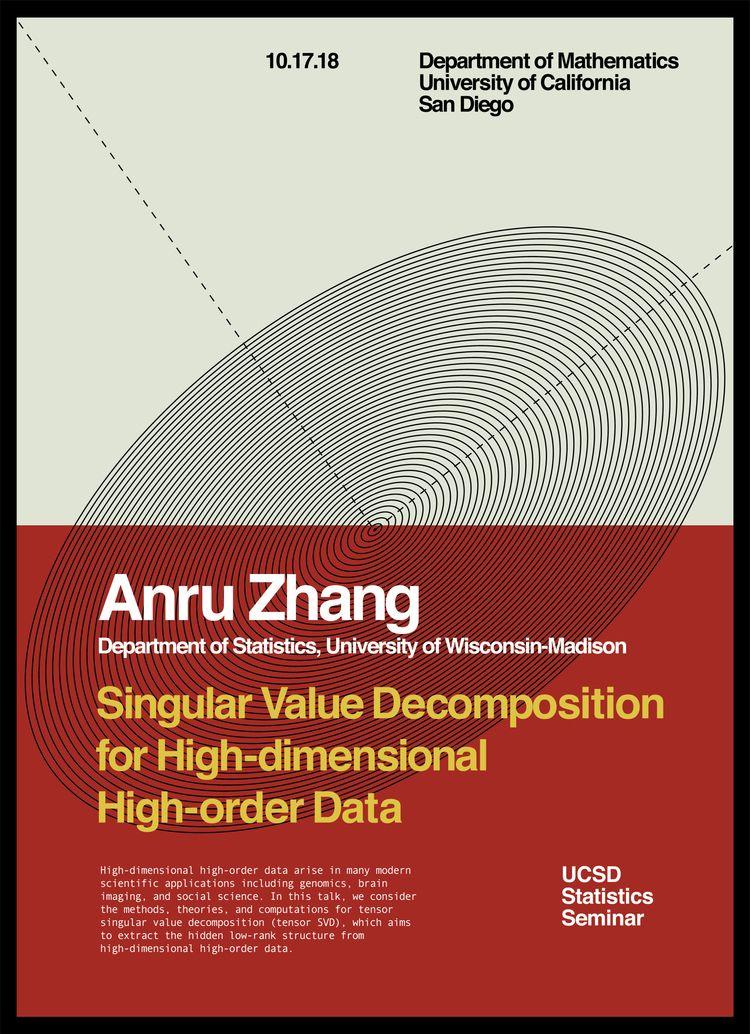 UCSD Statistics Seminar Poster  - randomwalks | ello