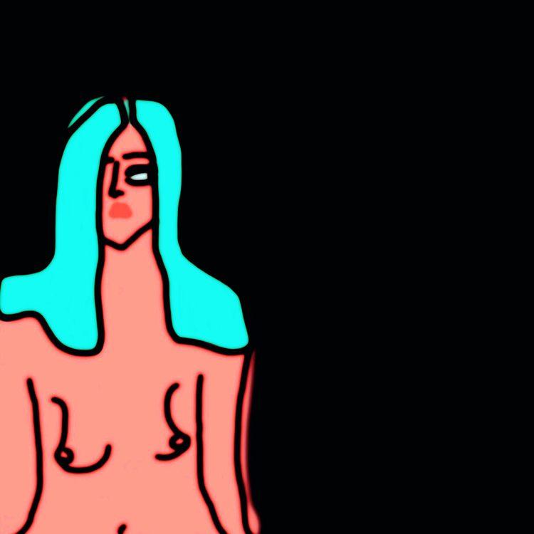 Nude Blue Hair, II series: NEON - jkalamarz | ello