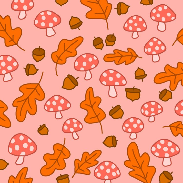 Inktober Day 11: fall pattern - illustration - ashleighgreen | ello