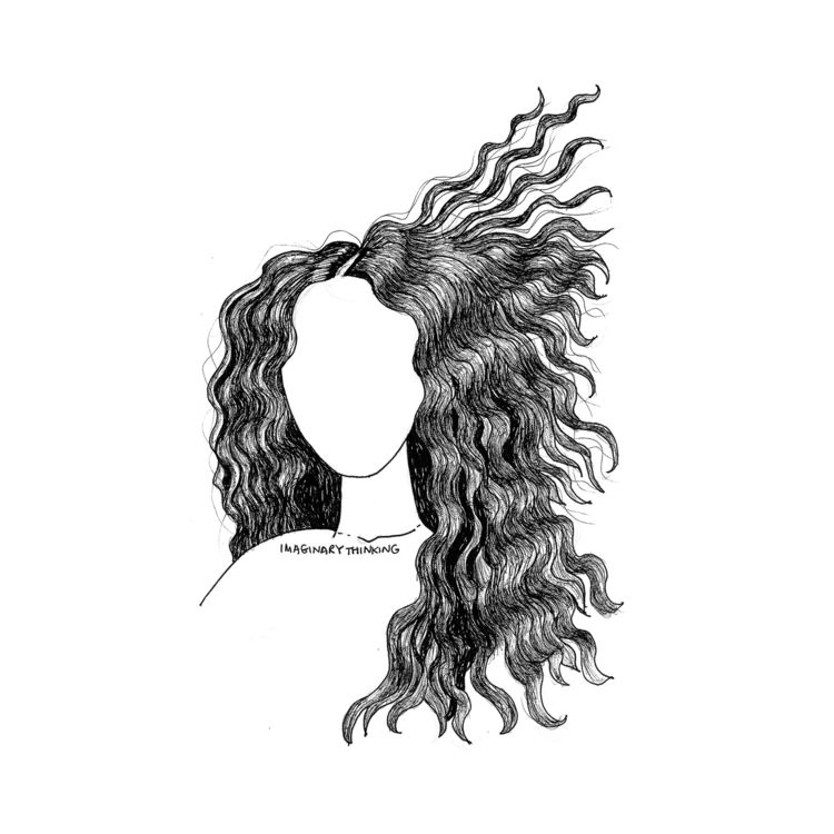 hair Daily drawing - flowing, 599 - imaginarythinking | ello