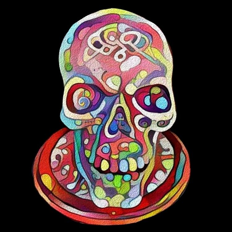 Party Skull Platter - zuzugraphics | ello