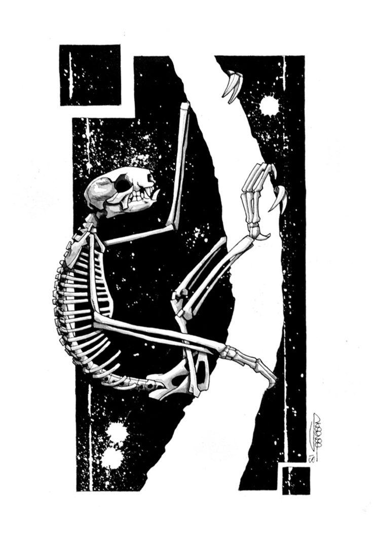 Sloth Skeleton, Skeenee, Founta - skeenee | ello