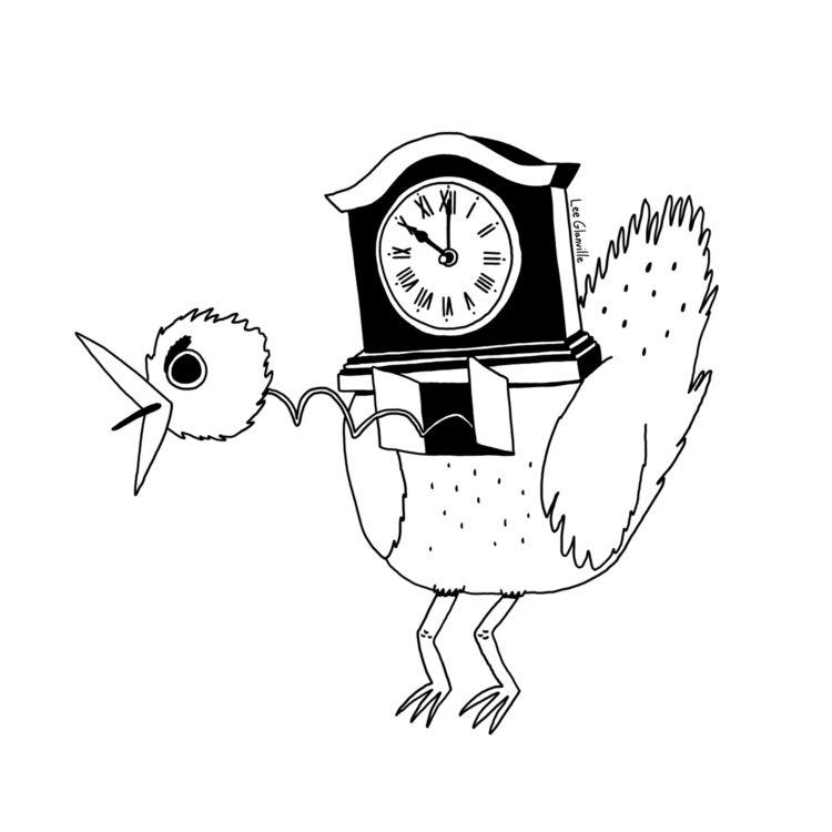 Day 14 - Clock - inktober, inktober2018 - leeglanville | ello