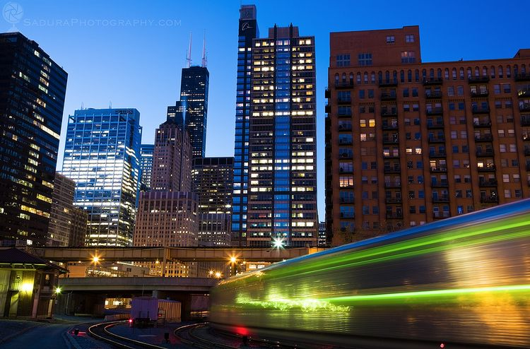 Morning Train downtown Chicago  - hsphotos | ello