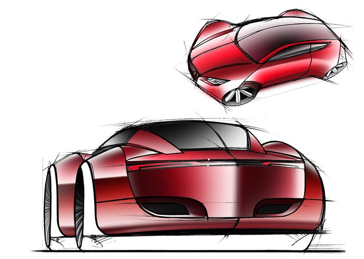 Car sketching Wacom Cintiq Sket - jamesowendesign | ello