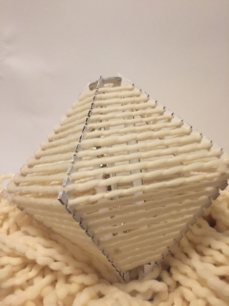 Process handwoven light lazercu - rustymellen | ello