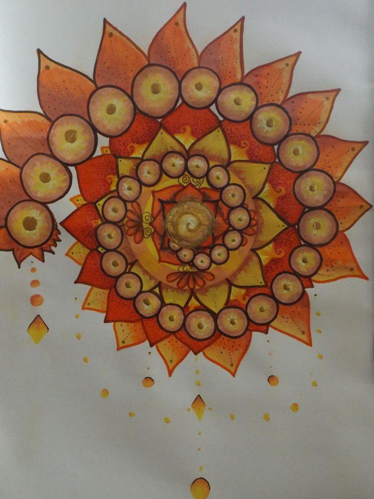 Orange brote - art, arttherapy, mandala - aryannamndoza | ello
