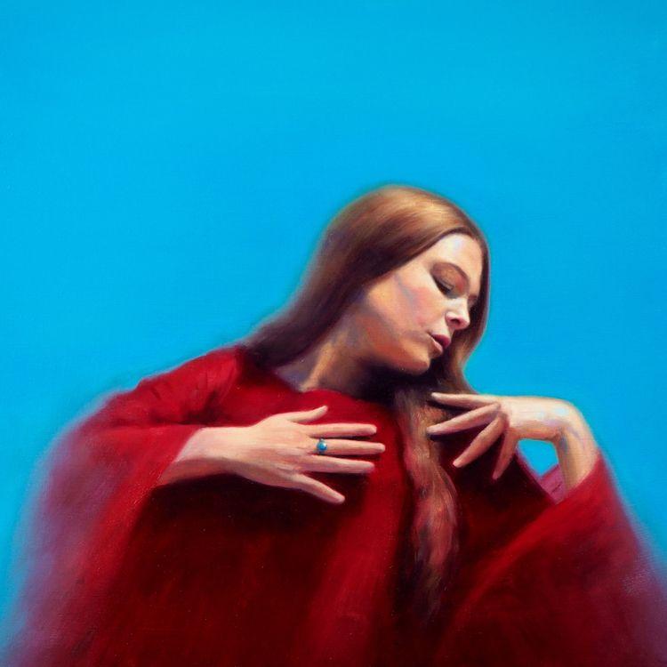 Maggie Rogers Oil MDF 16x16 - portrait - danbullockart | ello