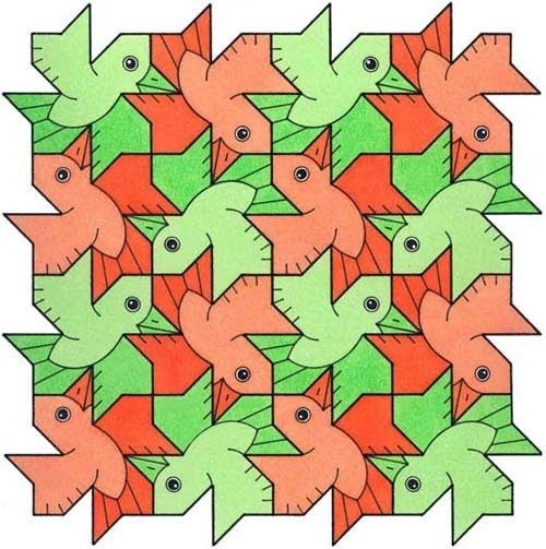 Geometric bird tessellation, pe - tessellationfanatic | ello