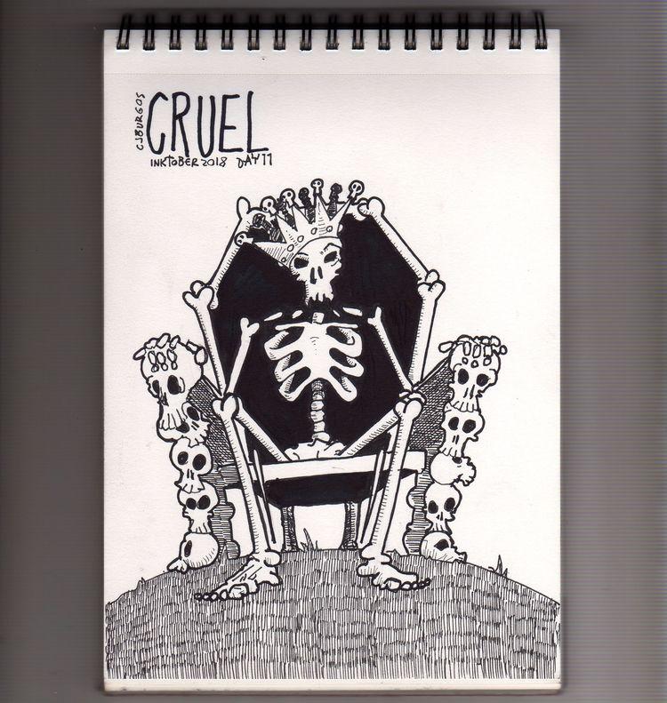 day 11 - inktober2018, skull, cruel - cjburgos | ello