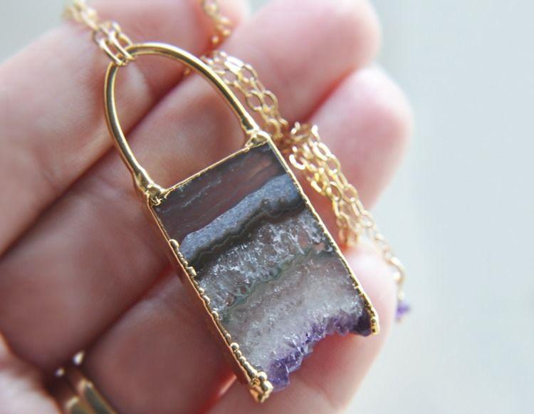 amethyst, crystals, amethystnecklace - fawinginlove | ello