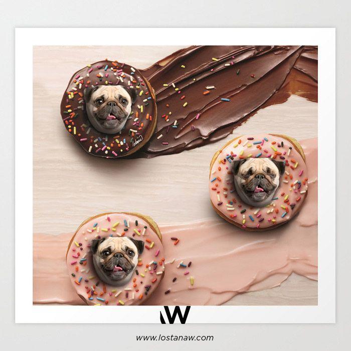 Pugs Succulent Donuts - Art SHO - lostanaw | ello