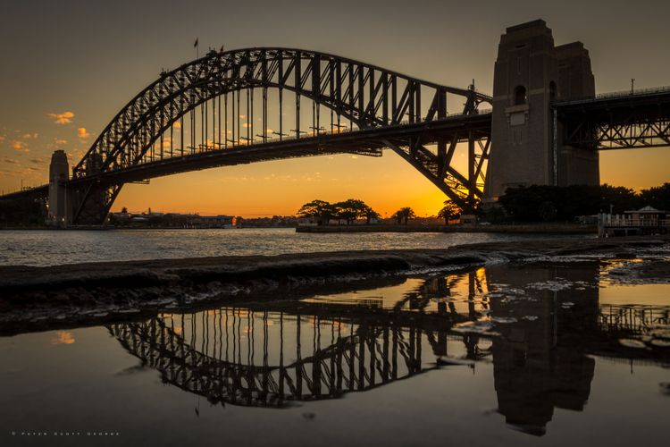 Worlds - sunset, sydney, sydneyharbourbridge - adarkangelfalls | ello