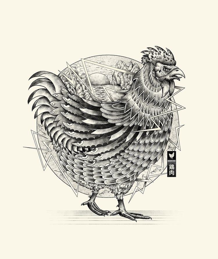 Chicken illustration - drawing - heymikel   ello