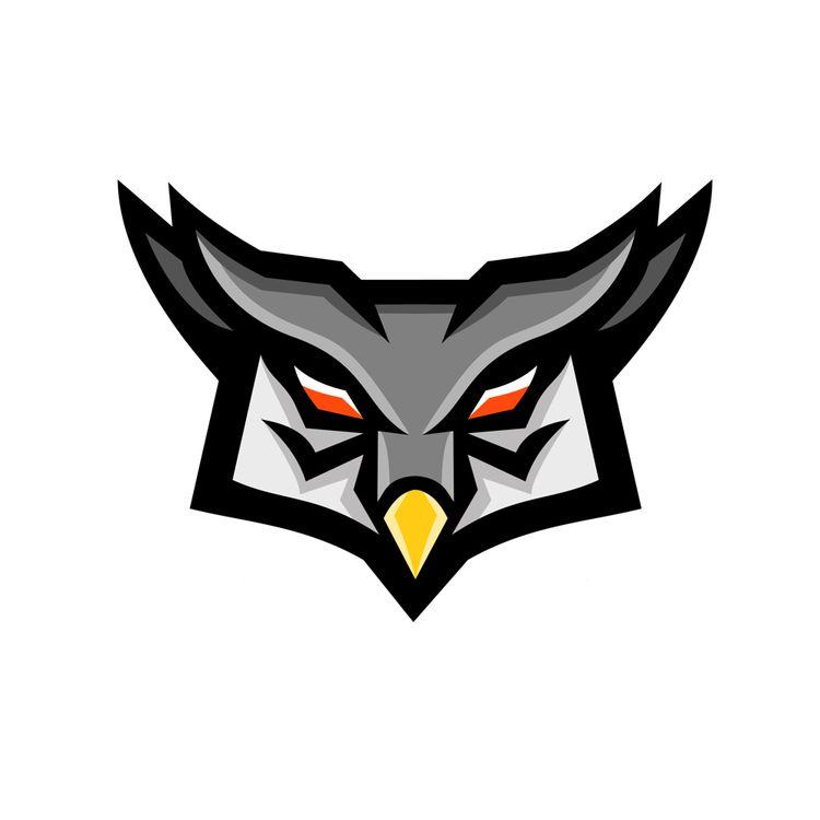 Angry Horned Owl Head Front Mas - patrimonio | ello